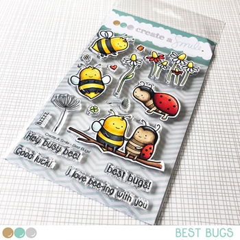 Create A Smile BEST BUGS Clear Stamps clcs110