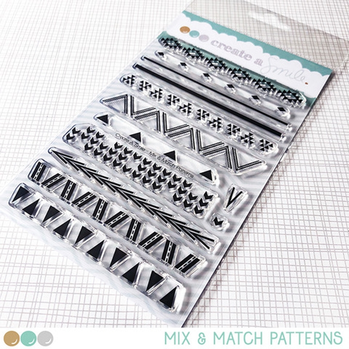 Create A Smile MIX AND MATCH PATTERNS Clear Stamps clcs113* zoom image