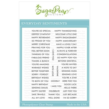 SugarPea Designs EVERYDAY SENTIMENTS Clear Stamp Set spd-00355
