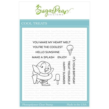 SugarPea Designs COOL TREATS Clear Stamp Set spd-000367