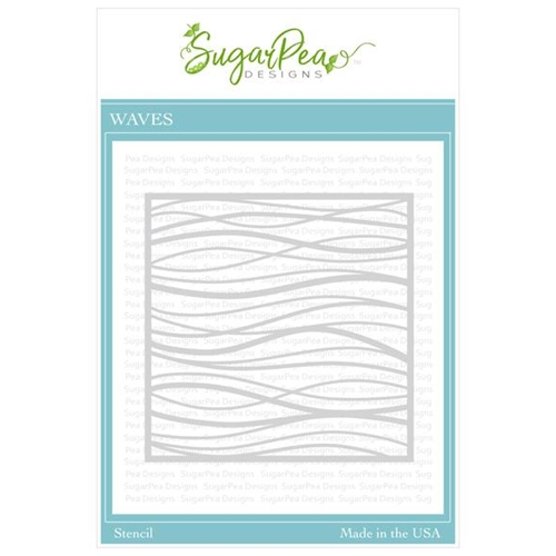 SugarPea Designs WAVE Stencil spd-00369 Preview Image