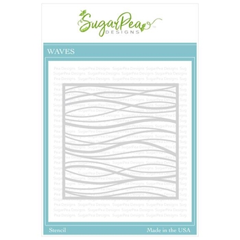 SugarPea Designs WAVE Stencil spd-00369