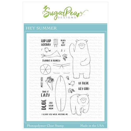 SugarPea Designs HEY SUMMER Clear Stamp Set spd-00358* Preview Image