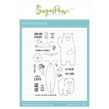 SugarPea Designs HEY SUMMER Clear Stamp Set spd-00358