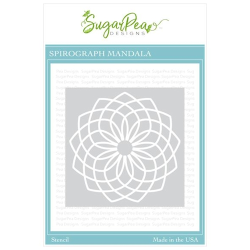 SugarPea Designs SPIROGRAPH MANDALA Stencil spd-00357 Preview Image