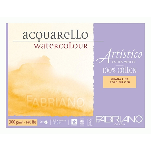 Fabriano WATERCOLOR PAPER 5x7 BLOCK Cold Press 00311218 Preview Image