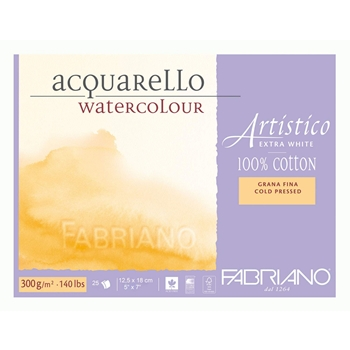 Fabriano WATERCOLOR PAPER 5x7 BLOCK Cold Press 00311218