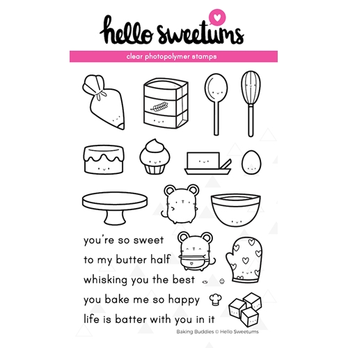 Hello Sweetums BAKING BUDDIES Clear Stamp Set 623982* Preview Image