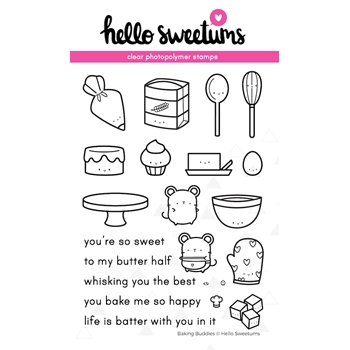 Hello Sweetums BAKING BUDDIES Clear Stamp Set 623982*