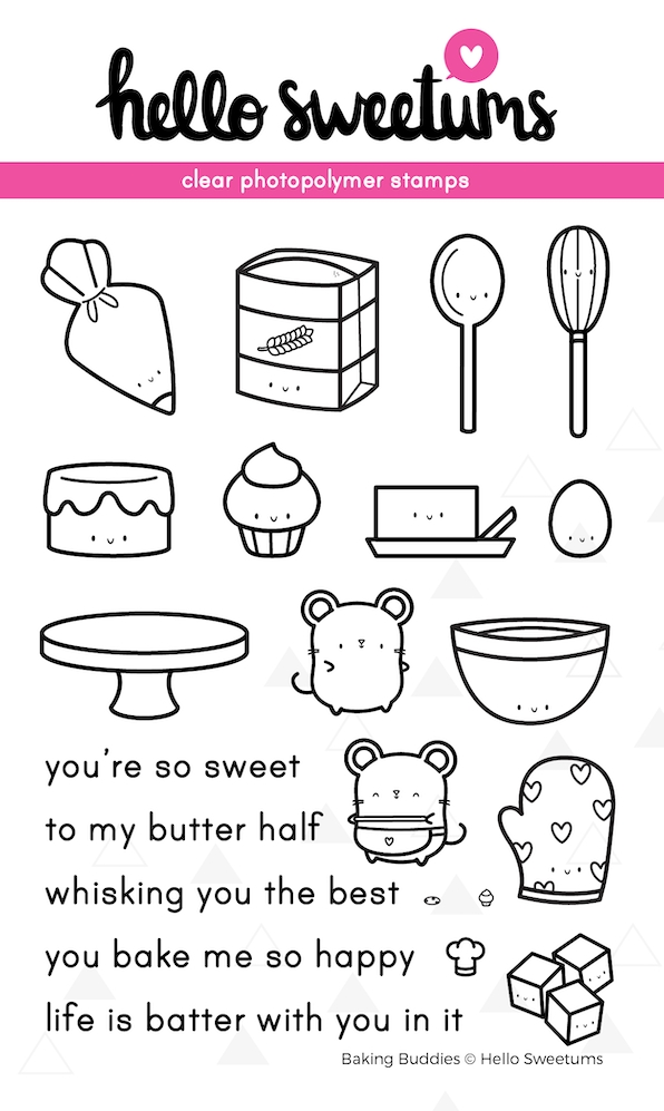 Hello Sweetums BAKING BUDDIES Clear Stamp Set 623982* zoom image