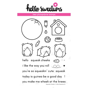 Hello Sweetums SQUEAK CHEEKS Clear Stamp Set 624026*