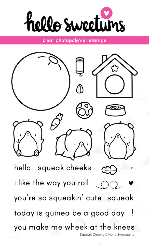 Hello Sweetums SQUEAK CHEEKS Clear Stamp Set 624026 zoom image