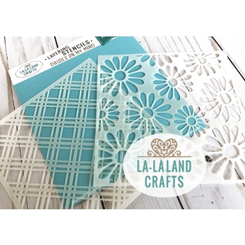 La-La Land Crafts DAISIES ON MY MIND Layering Stencil ST010