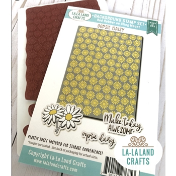 La-La Land Crafts OOPSIE DAISY Background Cling Stamps BK012
