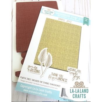 La-La Land Crafts SIMPLE JOYS Background Cling Stamps BK013