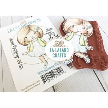 La-La Land Crafts Cling Stamps BLOOMING MARCI 5409