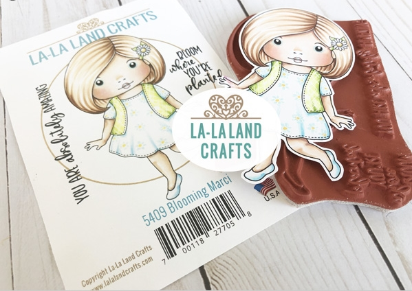 La-La Land Crafts Cling Stamps BLOOMING MARCI 5409 zoom image