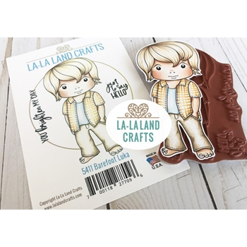 La-La Land Crafts Cling Stamps BAREFOOT LUKA 5411