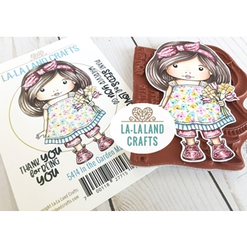 La-La Land Crafts Cling Stamps IN THE GARDEN MARCI 5414