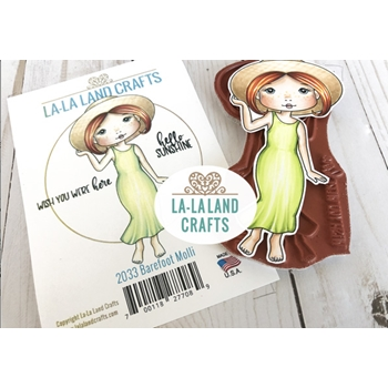 La-La Land Crafts Cling Stamps BAREFOOT MOLLI 2033