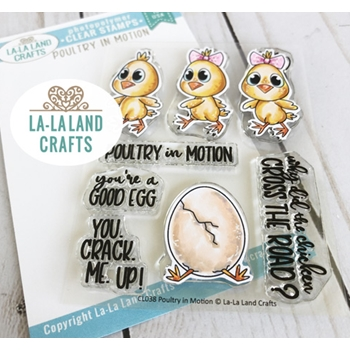 La-La Land Crafts Clear Stamps POULTRY IN MOTION CL038