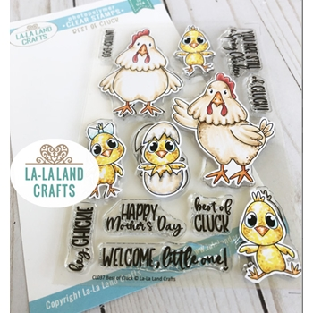 La-La Land Crafts Clear Stamps BEST OF CLUCK CL037
