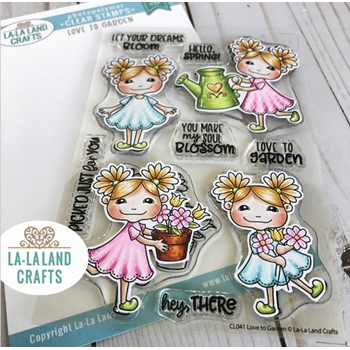 La-La Land Crafts Clear Stamps LOVE TO GARDEN CL041