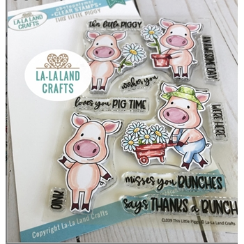 La-La Land Crafts Clear Stamps THIS LITTLE PIGGY CL039