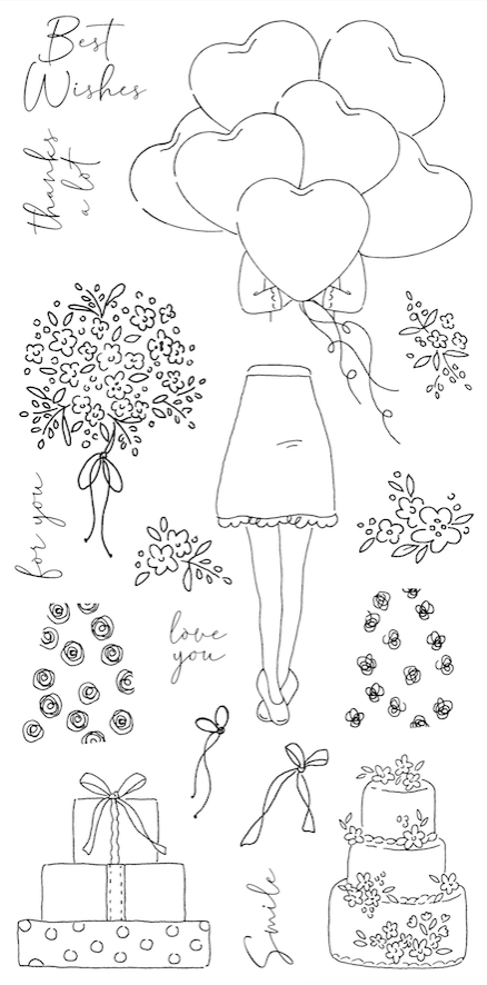 Impression Obsession Clear Stamps CELEBRATION GIRL WP936* zoom image