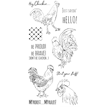 Impression Obsession Clear Stamps ROOSTER WP938