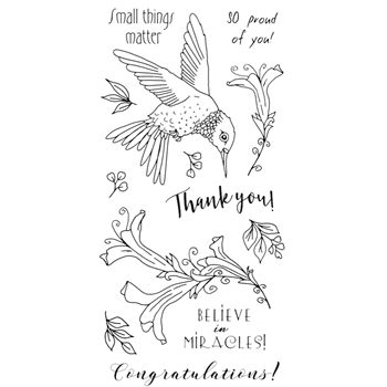 Impression Obsession Clear Stamps HUMMINGBIRD WP937