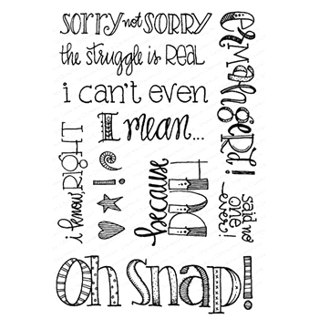 Impression Obsession Clear Stamps SORRY NOT SORRY CL949