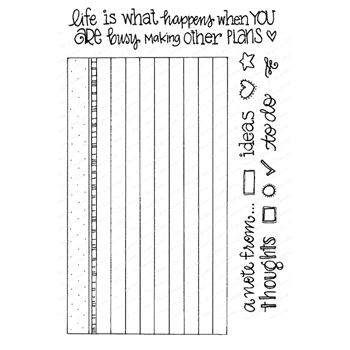 Impression Obsession Clear Stamps INDEX CARD CL952
