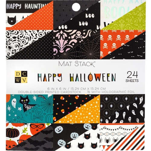 DCWV 6 x 6 HAPPY HALLOWEEN Mat Stack 615626 Preview Image
