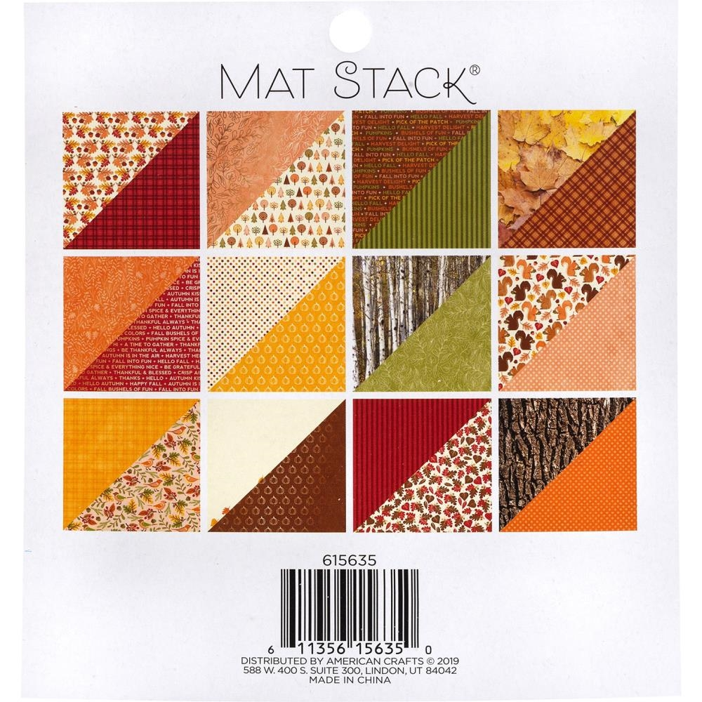 DCWV 6 x 6 AUTUMN DELIGHT Mat Stack 615635 zoom image