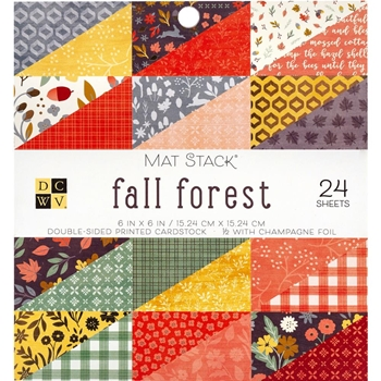 DCWV 6 x 6 FALL FOREST Mat Stack 615636