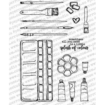 Paper Rose ARTY LOVE ARTISTS TOOLS Clear Stamp Set 18015