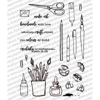 Paper Rose ARTY LOVE CREATOR'S TOOLS Clear Stamp Set 18012