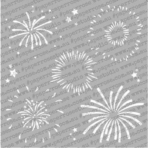 Paper Rose FIREWORKS 6x6 Stencil 18135 Preview Image