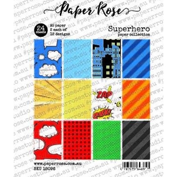 Paper Rose SUPERHERO Paper Pack 18096