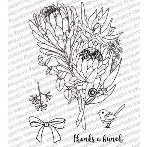 Paper Rose THANKS A BUNCH Clear Stamp Set 18075 Preview Image