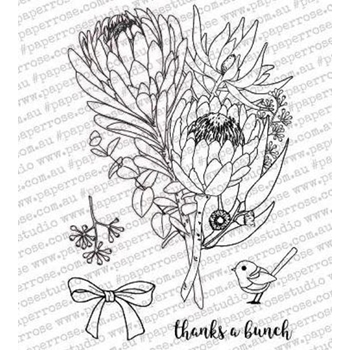 Paper Rose THANKS A BUNCH Clear Stamp Set 18075