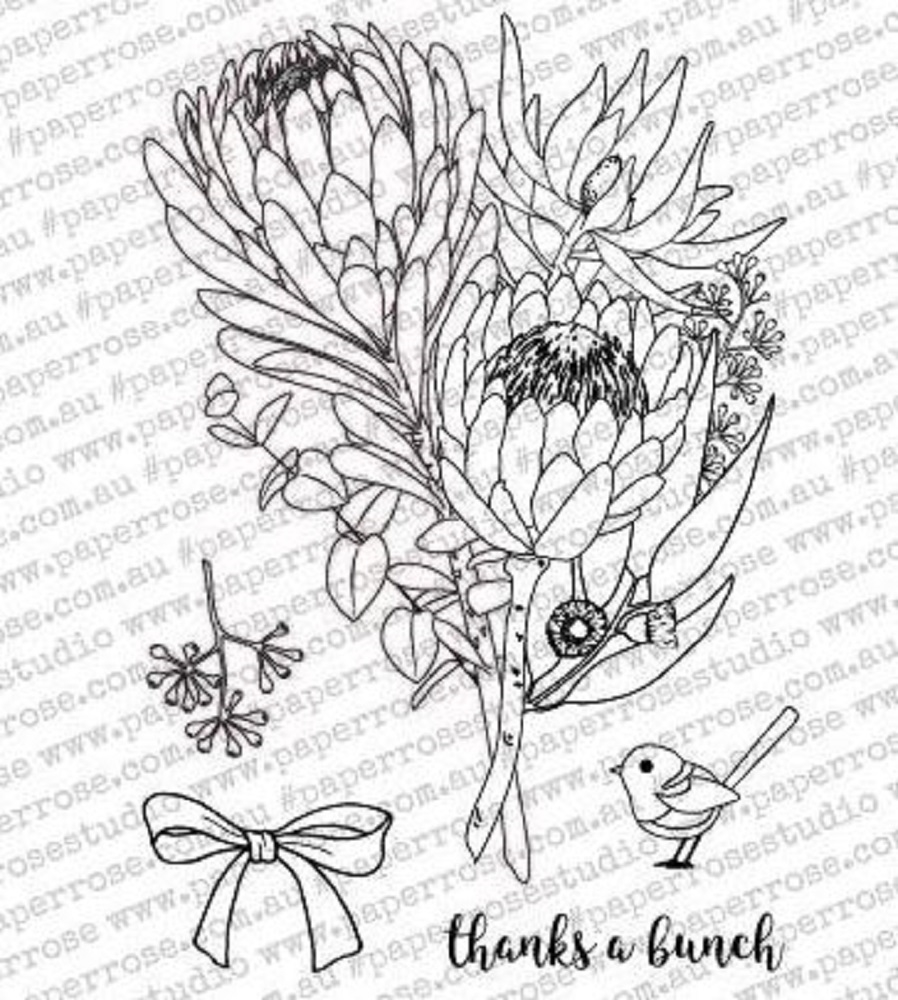 Paper Rose THANKS A BUNCH Clear Stamp Set 18075 zoom image