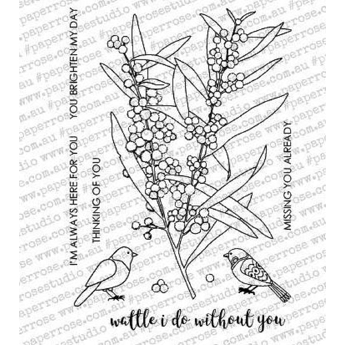 Paper Rose WATTLE I DO Clear Stamp Set 18072* Preview Image