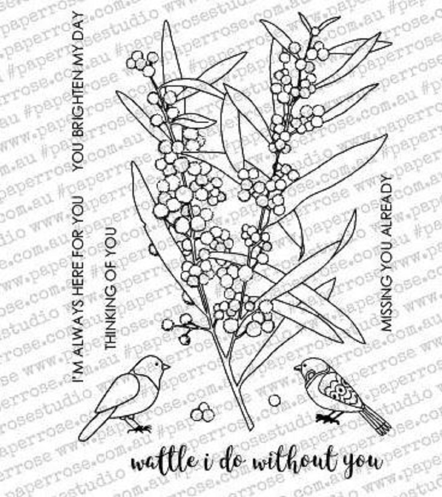 Paper Rose WATTLE I DO Clear Stamp Set 18072* zoom image