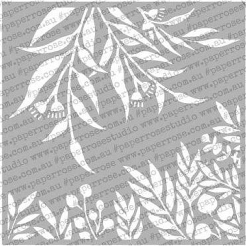 Paper Rose GUM LEAF 6x6 Stencil 18132 Preview Image