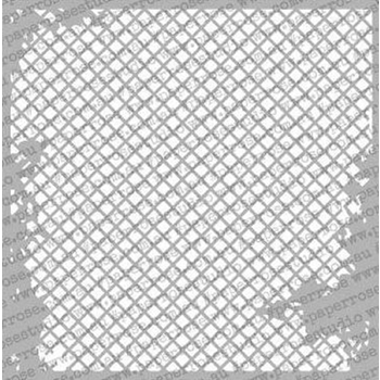 Paper Rose DISTRESSED MESH 6x6 Stencil 18126