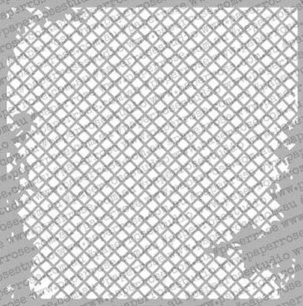Paper Rose DISTRESSED MESH 6x6 Stencil 18126 zoom image