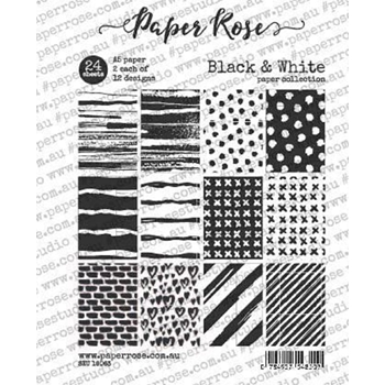 Paper Rose BLACK AND WHITE Paper Pack 18063