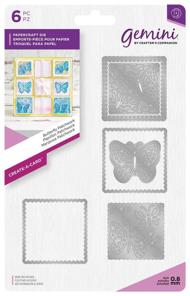 Crafter's Companion BUTTERFLY PATCHWORK Create A Card Gemini Die gem-md-cad-butp zoom image